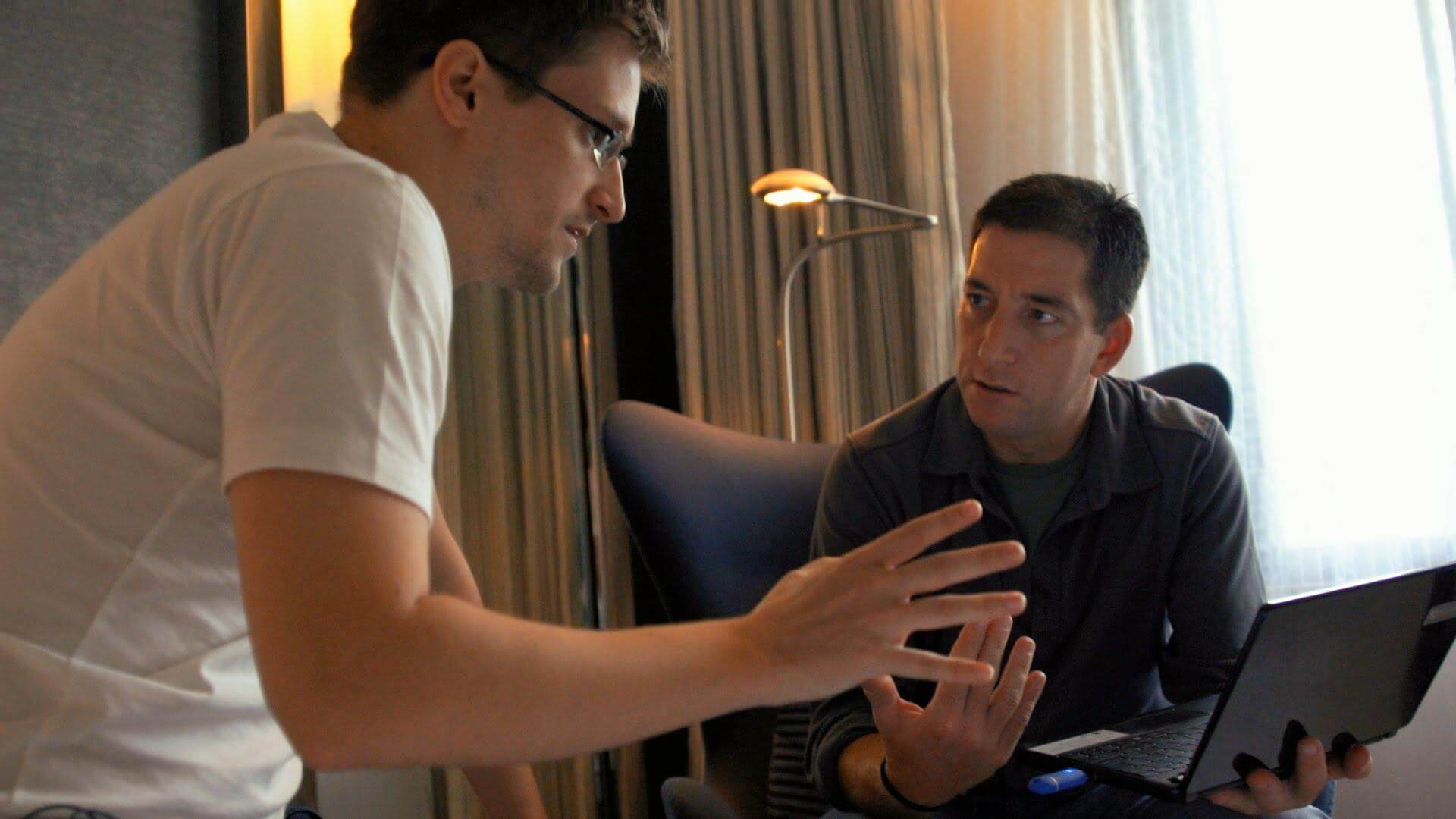 Edward Snowden en CitizenFour